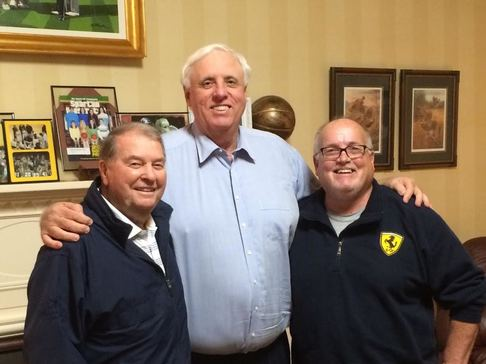 Don Nehlen, Jim Justice, Governor of West Virginia, & Wayne Long. Planning for the Greenbrier Concours d'Elegance.